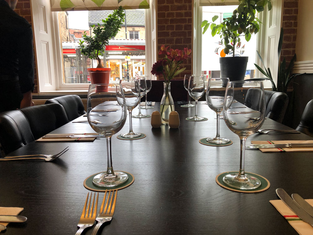 Lemon Tree Restaurant & Bar, Barnsley - Table Setting